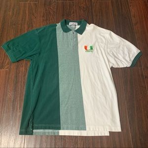 VTG Boca classics University Miami Hurricanes Polo